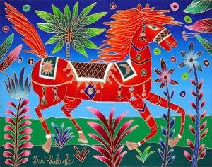 Yuri-Gorbachev-Red-Horse-in-Spring-16x20-MED