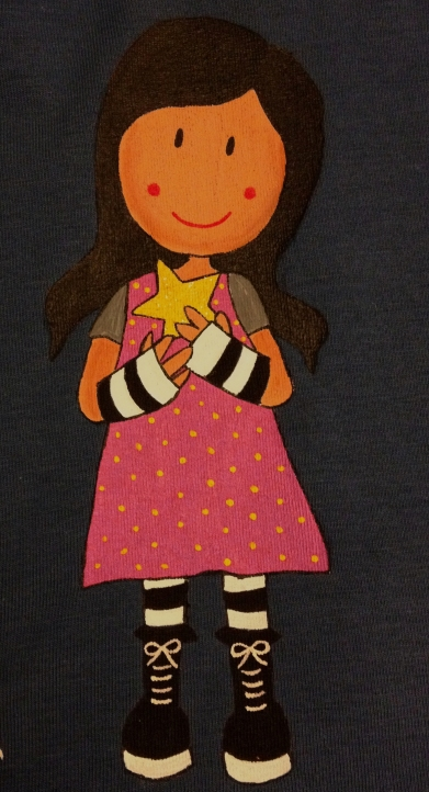 Niña-estrella-vestido-rosa